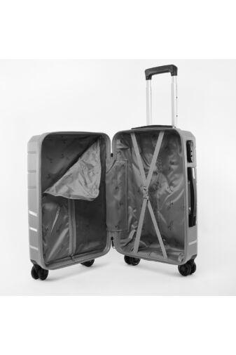 Besty Kis Méretű Szürke Polipropilén Bőrönd (57x38x23cm)