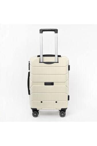 Besty Nagy Méretű Vajszínű Polipropilén Bőrönd (77x48x32 cm)