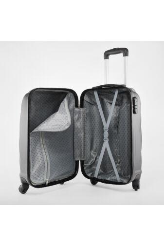 Fekete Közepes Méretű Kemény bőrönd (65x40x26 cm)