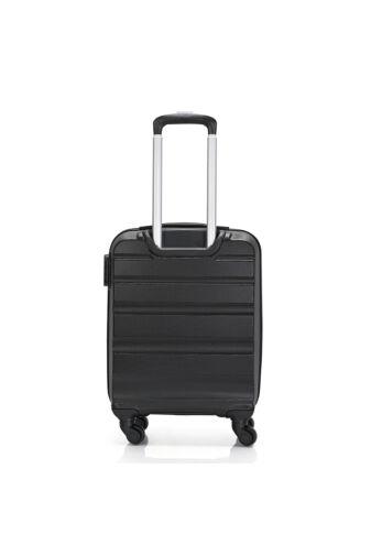 Bontour Fekete Wizzair, Ryanair méretű ABS Kabinbőrönd (55x40x20 cm)
