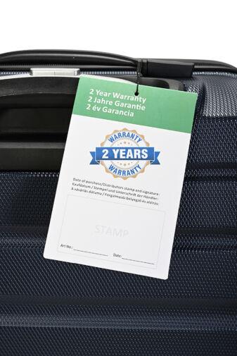 Bontour Sötétkék Wizzair, Ryanair méretű ABS Kabinbőrönd (55x40x20 cm)