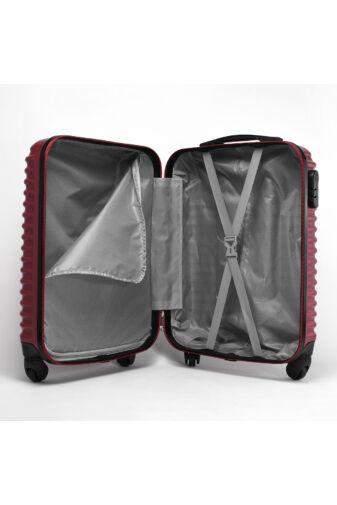 Sötétkék Wizz air Ryanair Méretű Kemény Kabinbőrönd (55x38x20cm)