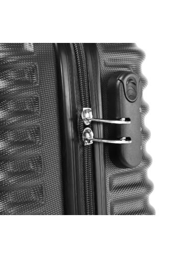 Fekete Wizz air Ryanair Méretű Kemény Kabinbőrönd (55x38x20cm)