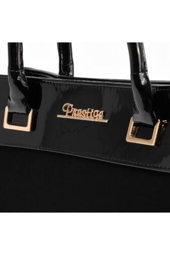 Prestige Fekete Női Rostbőr Kézitáska