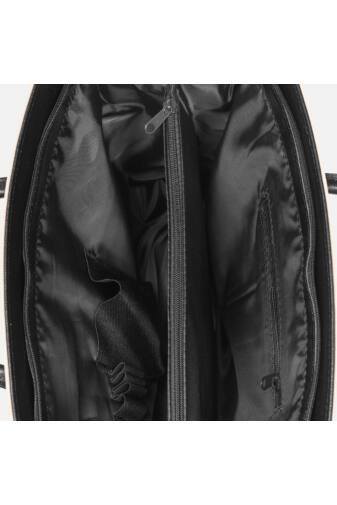 VIA.55 Fekete Elegáns Rostbőr női kézitáska