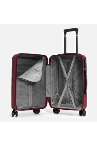 Besty Bordó Polipropilén Bőrönd Szett