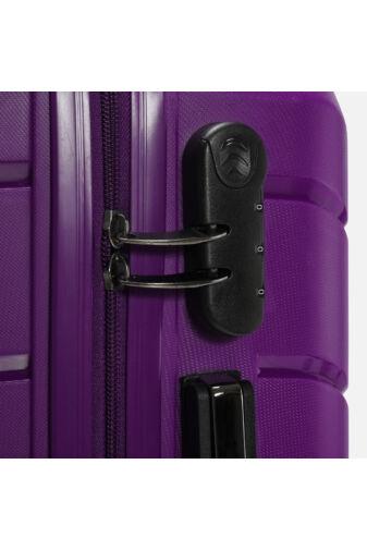 Besty Lila Polipropilén WizzAir Méretű Kabinbőrönd