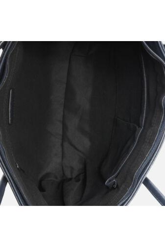 Fekete Műbőr Elegáns Női Kézitáska - Nagy méretű