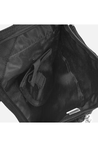 Fekete Szövet Aoking Combra-derékra rögzíthető övtáska