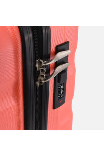 Neon Narancs, Ryanair Méretű Kabinbőrönd Biztonsági Zárral ( 55x40x20 cm)