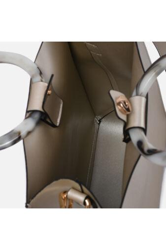 NÖBO Rostbőr Női Szögletes Kézitáska Kivehető Zsebbel És Két Vállpánttal