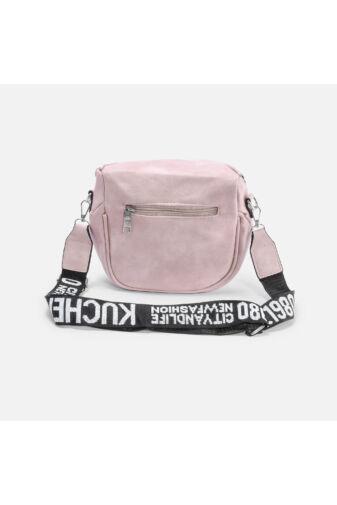 Besty Rózsaszín Műbőr Női Keresztpántos táska