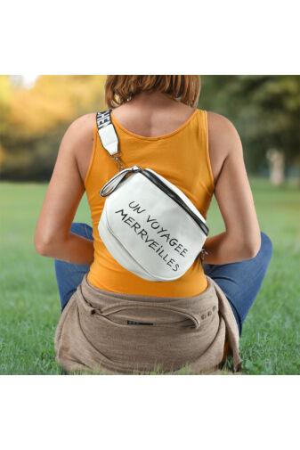 Besty szürke Műbőr Női Keresztpántos táska