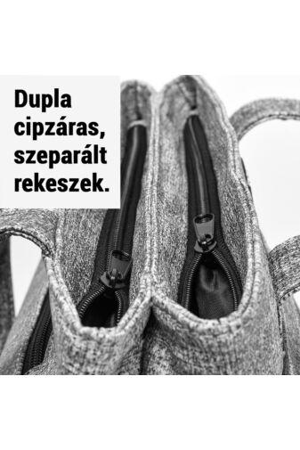 Sokzsebes Hétköznapi Szürke Műbőr Női Válltáska