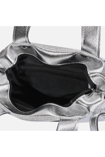 Prestige Női Ezüst Rostbőr 2in1 Táska