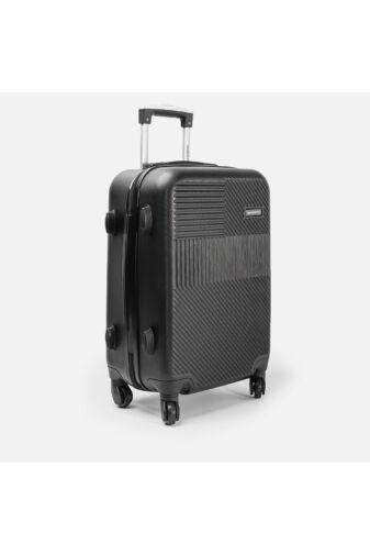 Leonardo Da Vinci Fekete Színű Óriás Bőrönd (4 Kerekű) (85x55x32) XL
