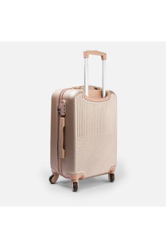 Leonardo Da Vinci Pezsgő Színű Óriás Bőrönd (4 Kerekű) (85x55x32) XL