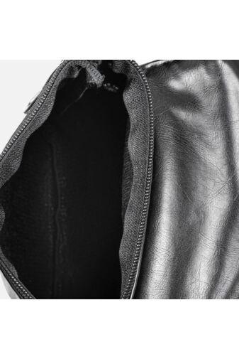 Fekete mini műbőr oldaltáska