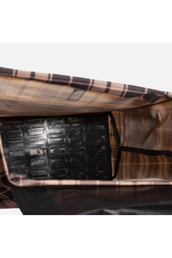 Négy Kerekű Strapabíró Bézs/Fekete Kockás Bevásárló Kocsi