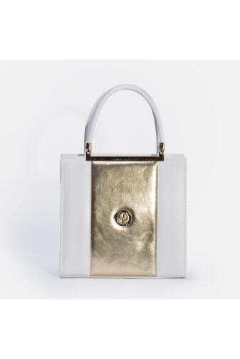 Prestige Fehér-Arany Műbőr Kézitáska