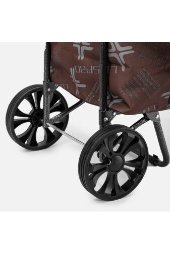 Fekete 2 kerekű gurulós bevásárlókocsi