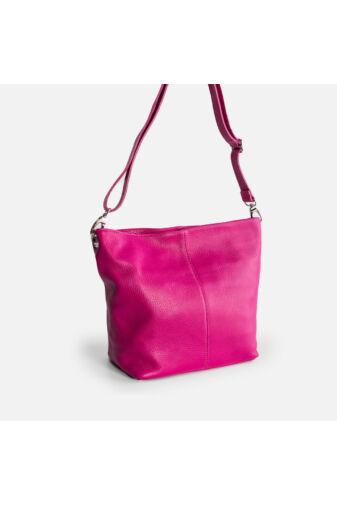 Besty Női Közepes Méretű Valódi Bőr Rózsaszín Válltáska