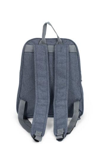 Szürke vászon hátizsák