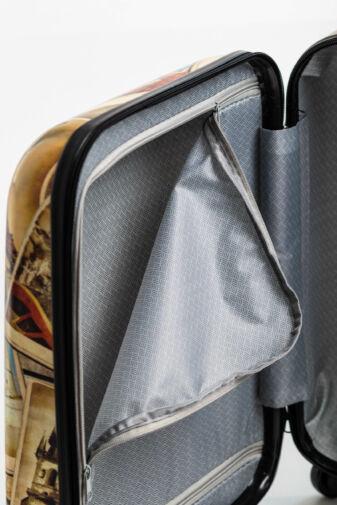 Párizs Mintás Kemény Kabin Bőrönd