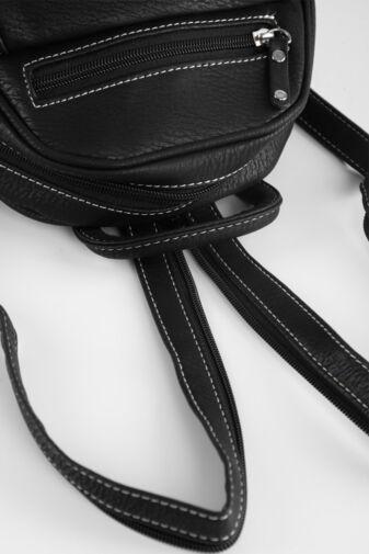 Fekete-Fehér Sok zsebes Hátitáska és Válltáska egyben