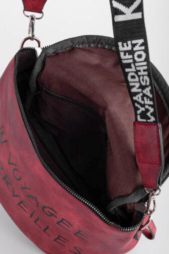 Besty Piros Színű Műbőr Női Keresztpántos táska