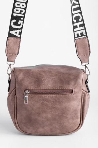 Besty Agyag Színű Műbőr Női Keresztpántos táska