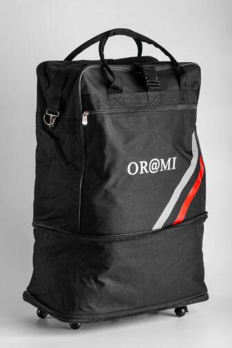 ORMI Fekete Színű Duplán Bővíthető Gurulós Utazótáska