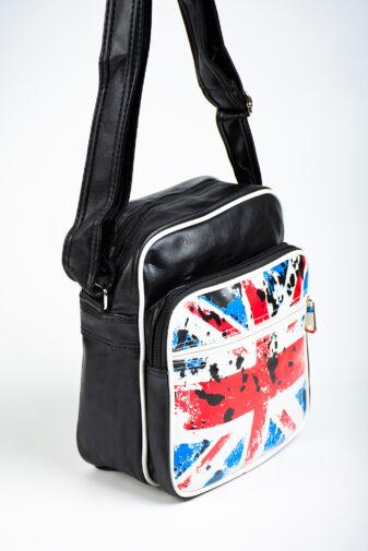 R&J Brit Zászlós Műbőr Női Keresztpántos Táska
