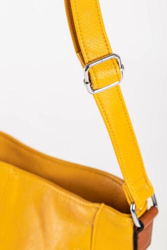 Női Mustársárga Színű Műbőr Oldaltáska