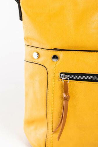R&J Egyszerű Mustársárga  Műbőr Váll És Oldaltáska