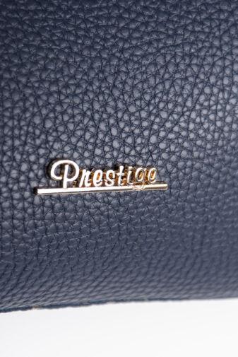 Prestige Sötétkék Barna Női Rostbőr Válltáska