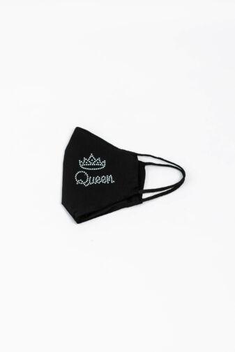 Queen Feliratú Koronás 2 Rétegű Trendi Textil Szájmaszk