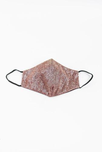 Csillogó Rózsaszín 2 Rétegű Trendi Textil Szájmaszk