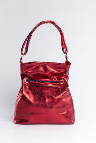 Piros-Kék Fényes Prestige Női Rostbőr Válltáska