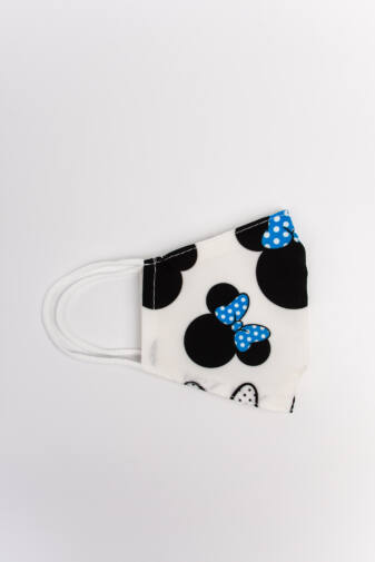 Minnies Kék 2 Rétegű Trendi Textil Gyerek Szájmaszk