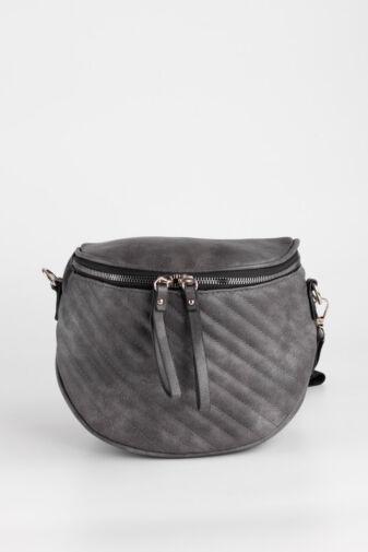 Szürke Színű Műbőr Női Keresztpántos táska