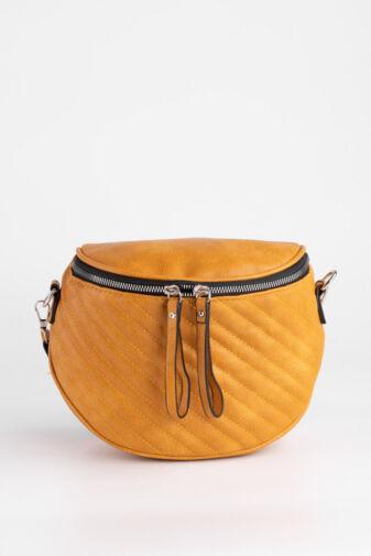 Sárga Színű Műbőr Női Keresztpántos táska