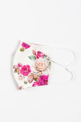 Rózsa Mintás 2 Rétegű Trendi Textil Szájmaszk