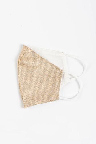 Arany Színű Csillogó 2 Rétegű Trendi Textil Szájmaszk
