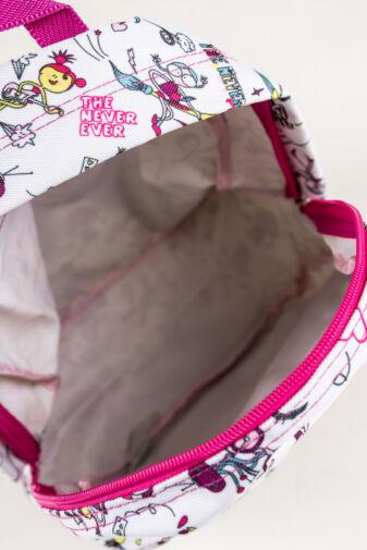 R&J Sötét Rózsaszín Bicikli Mintás Gyerek Hátizsák