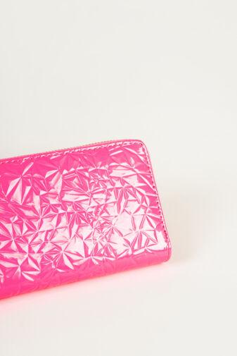 R&J Neon Rózsaszín Műbőr Női Pénztárca