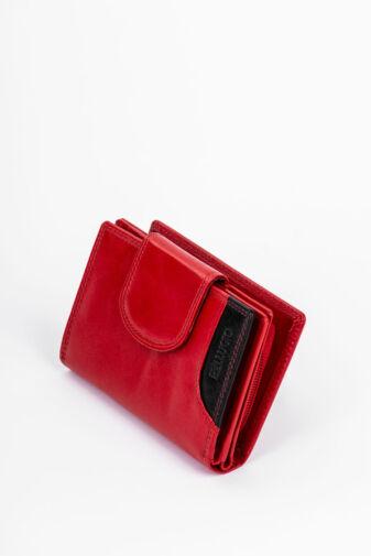 Bellugio Piros Kis Méretű Patentos Női Valódi Bőr Pénztárca