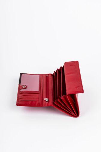 Piros Bellugio Közepes Méretű Klasszikus Női Pénztárca