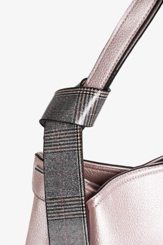 Silvia Rosa Pasztell Rózsaszín Rostbőr Válltáska