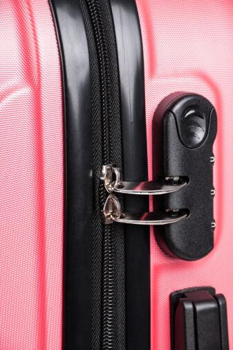 Besty Pink Extra Könnyű Kemény Közepes Bőrönd (4 Kerekű)